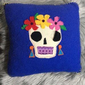 Other - Dia de los Muertos sugar skull recycled pillow